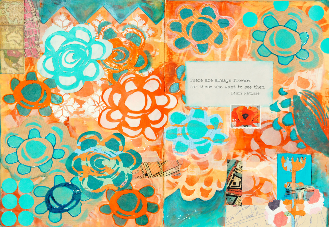 Traci Bautista StencilGirl Art Journal