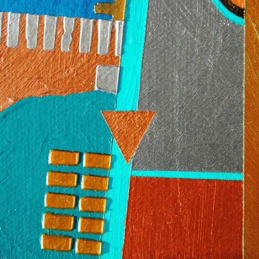 ©2014 Mary C. Nasser, North (detail), mixed-media/acrylic on canvas, 6 x 8 inches