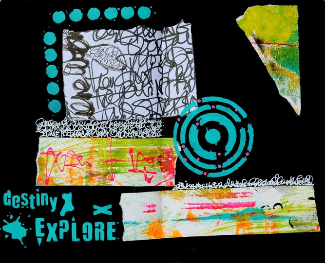 Art Journaling with Seth Apter stencils
