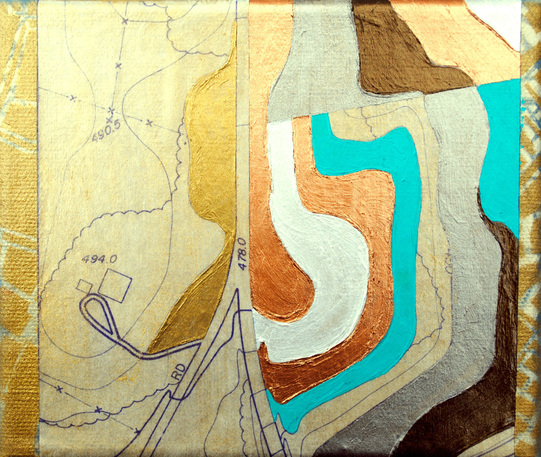 ©2012 Mary C. Nasser, Island, mixed-media/acrylic on canvas, 5 x 6 inches