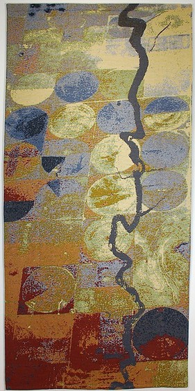 "Dreams of the Mississippi, Jacquard woven cotton, 50"" wide x 8'3"""