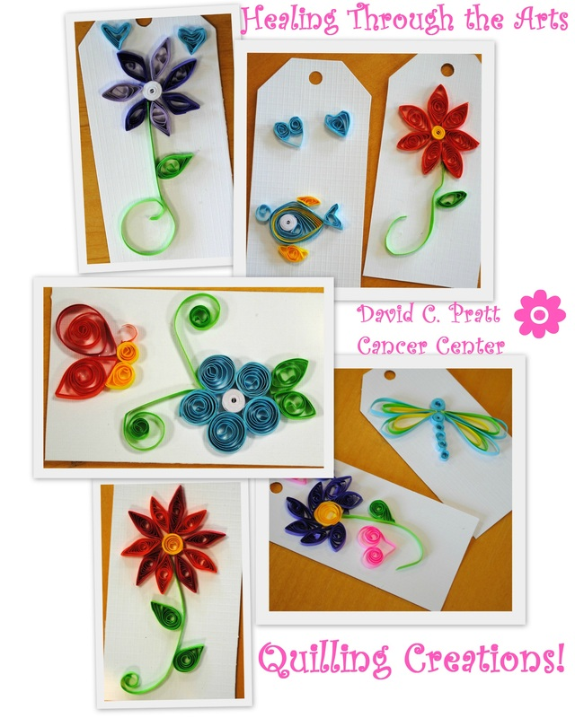 Mary C. Nasser Healing Through the Arts Quilling Creations