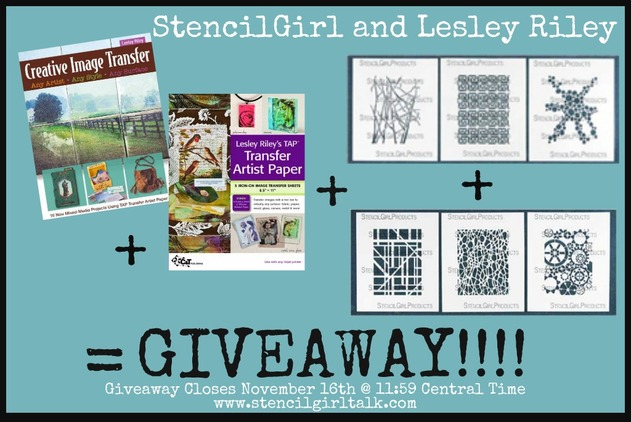 StencilGirl and Lesley Riley TAP Transfer Artist Paper Blog Hop