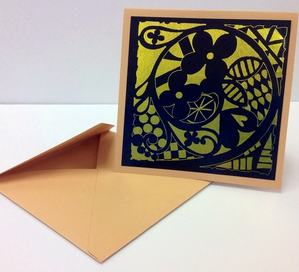 Stenciled Card DIY by Mary C. Nasser