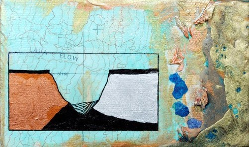 ©2011 Mary C. Nasser, Flow, mixed-media/acrylic on canvas, 3 x 5 inches