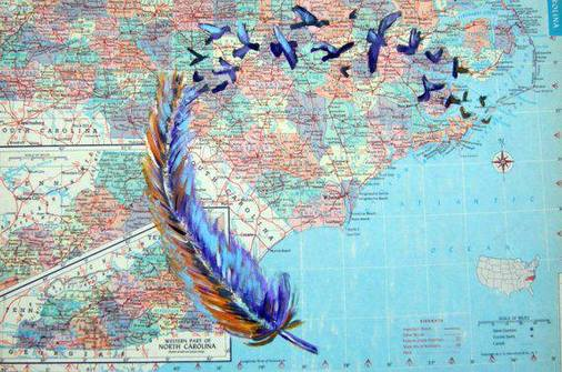 Map Art by Maryanne Pappano