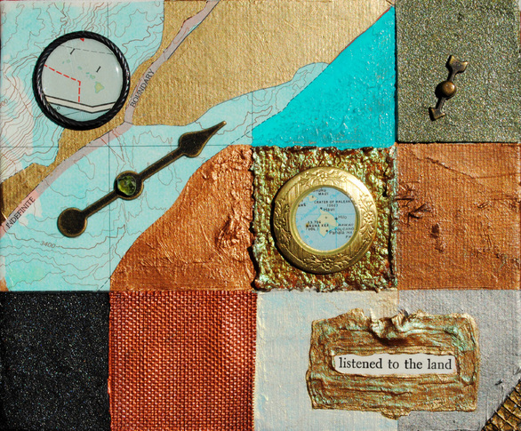 ©2012 Mary C. Nasser, Listened, mixed-media/acrylic on canvas, 5 x 6 inches