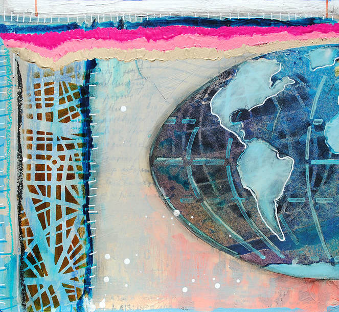 Mary C. Nasser, Mixed Media Map Art