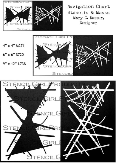 StencilGirl Navigational Chart Stencils & Masks designed by Mary C. Nasser