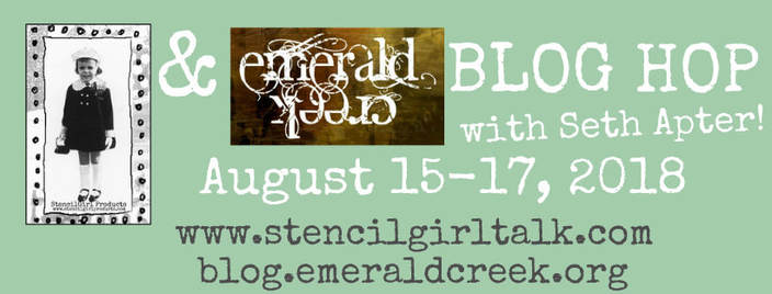 StencilGirl & Emerald Creek Blog Hop