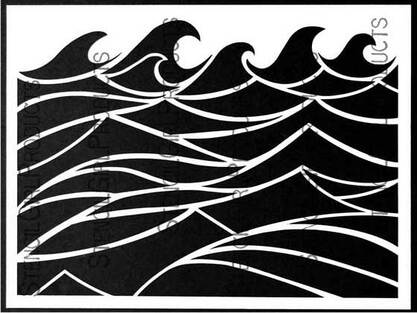 Making Waves stencil